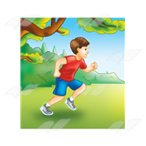 Boy Running Outside