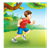 Boy Running Outside Color PNG