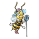 Singing Bee girl with microphone