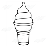 Soft-Serve Strawberry Cone