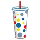 Large Drink Cup polka dot