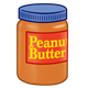 Peanut Butter Jar with blue lid