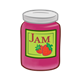 Strawberry Jam Jar with label