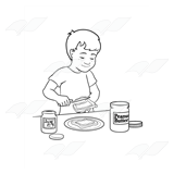 Boy Making Sandwich