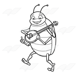 Bug Playing a Banjo