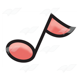 Pink Eighth Note