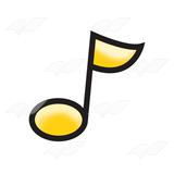 Yellow Eighth Note
