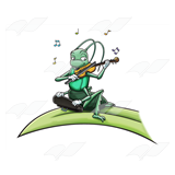 Cricket Playing a Violin