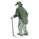 Older Man with Cane