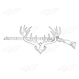 Rifle on an Elk Rack