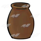 Brown Clay Jar