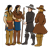 Pilgrims Talking to Indians Color PNG