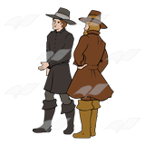 Two Pilgrim Men
