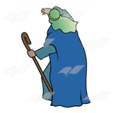 Shepherd in Blue Garment
