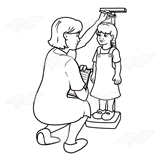 Nurse Measuring Girl