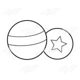 Striped Ball and Star Ball