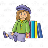 Doll with Books