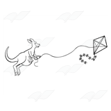 Kangaroo with Kite