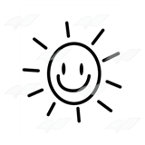 Smiley Sun with Rays