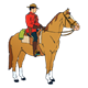 Canadian Mountie on a brown horse