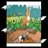 Rabbit burrow clipart - photo#44
