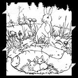 Rabbit burrow clipart - photo#30