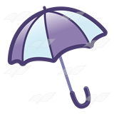 Purple and White Umbrella