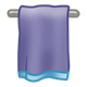 Purple and Blue Towel on bar