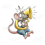 Rat Playing Tuba