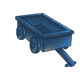 Blue Wooden Wagon