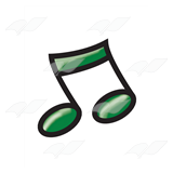 Dark Green Eighth Notes