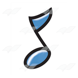 Blue Eighth Note