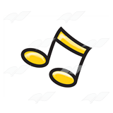 Yellow Eighth Notes