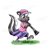 Skunk Playing a Clarinet