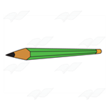 Long Green Pencil
