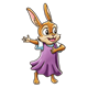 Bunny Singing wearing purple dress