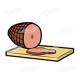 Ham on Cutting Board