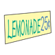 Lemonade Sign with price