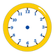 Yellow Clock without hands