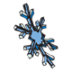Snowflake large with blue spines