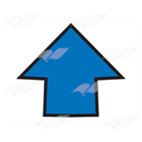 Short Blue Arrow