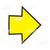 Short Yellow Arrow
