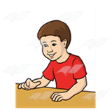 Boy Sitting at Table