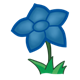Star Flower blue