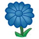 Blue Flower with twelve petals