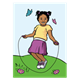 Girl Jumping Rope in spring