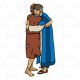 abeka clip art father and prodigal son hugging rh abeka com  parable of the prodigal son clipart