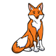 Orange Fox sitting