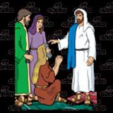 Abeka  Clip Art  Jesus Heals Blind Bartimaeus