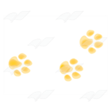 Three Yellow Paw Prints